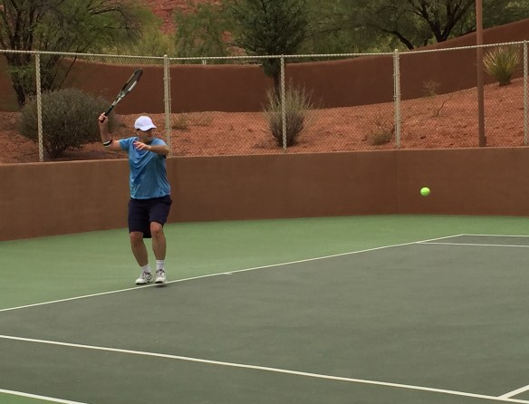 Jon ready for his forehand