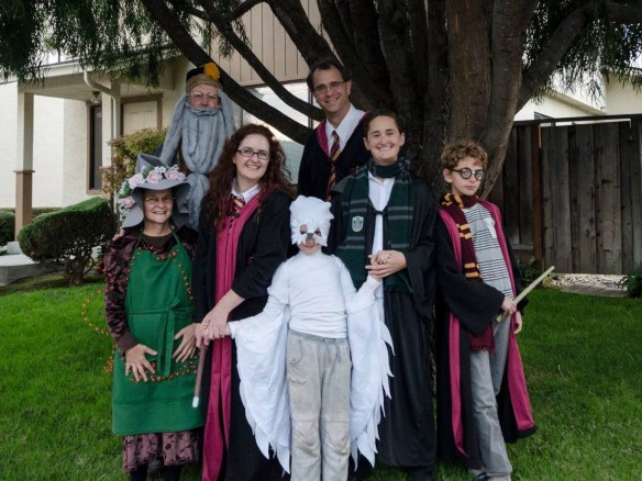 Henderson/Pilat clan on Halloween.