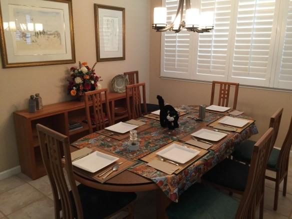 Table set for Fall Family Fest!