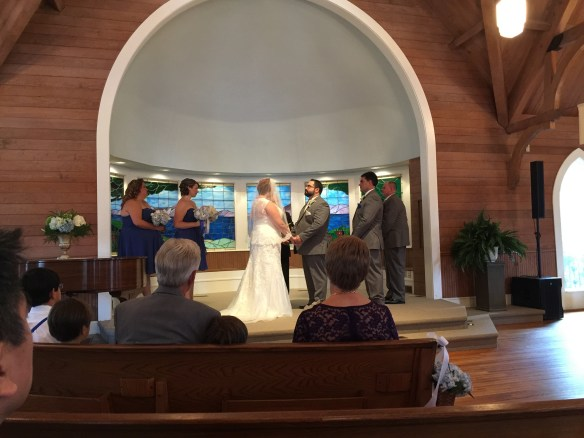 Melissa and Rob at the altar