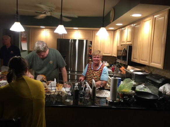 The kitchen is abuzz with activity