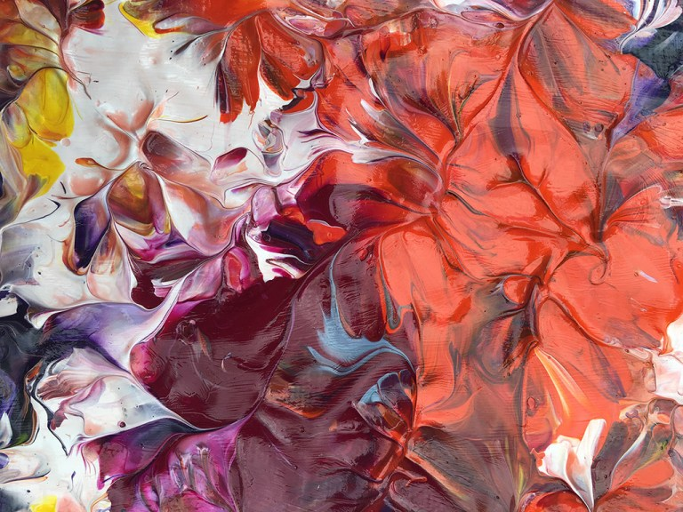 Autumn Bloom - Painting by Mary Narduzzo
