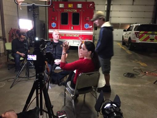 Soledad O'Brien and Covington KY Fire Chief Dan Mathew
