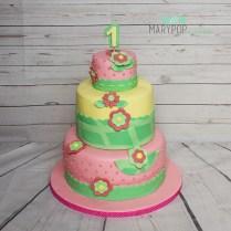 Fiori e colori per un primo compleanno