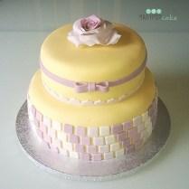 Wedding cake colorata ma semplice