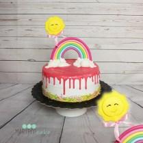 Drip cake arcobaleno