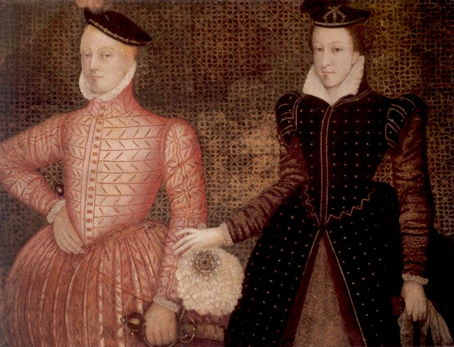 Mary, Queen of Scots, and her second husband Henry Stuart, Lord Darnley