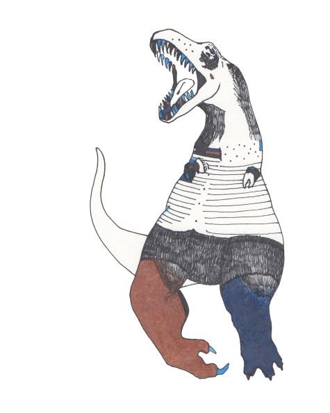 """T-Rex // 10"""" x 8"""""""