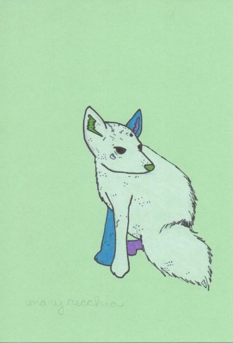 """Arctic Fox // 7"""" x 5"""""""
