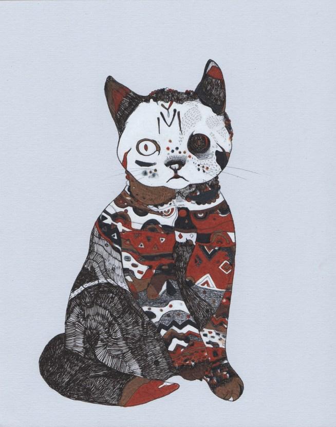 """Tattoo Cat // 10"""" x 8"""""""