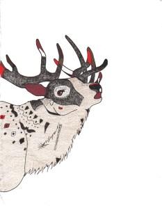 "Elk // 10"" x 8"""