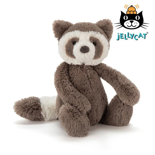 Jellycat Bashful Raccoon Mary Shortle