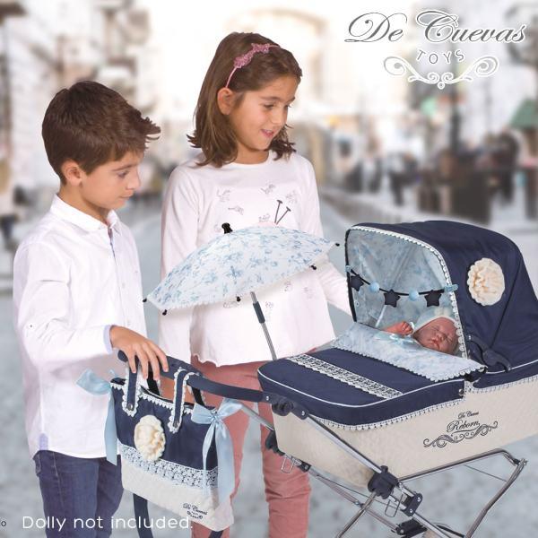 Decuevas Toys Navy Pram with Baby Mary Shortle