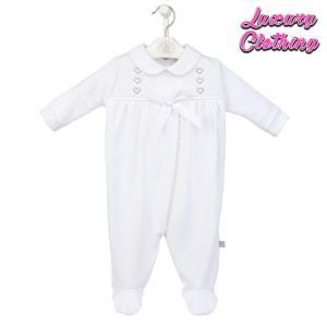 Heart & Bow Smocked Cotton Sleepsuit Luxury Clothing Mary Shortle