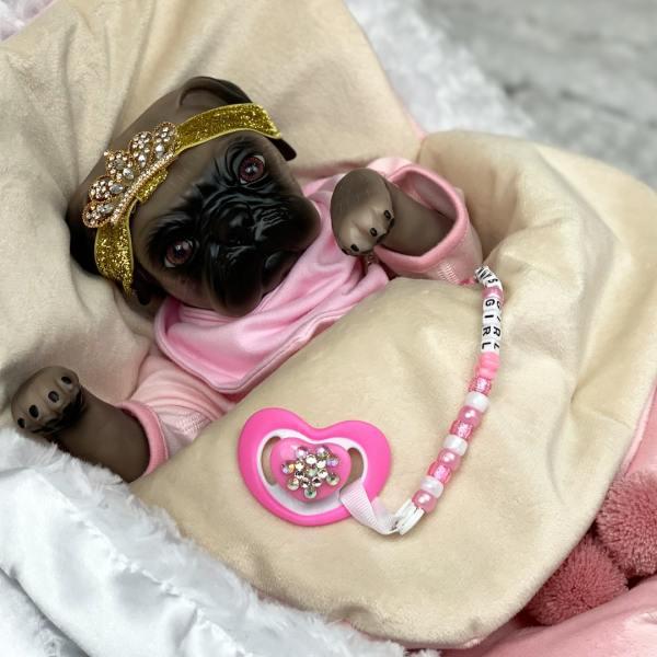 Cutie Pie Pug Animal Reborn Mary Shortle