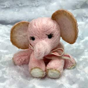 Pink Artist Elephant Janine's Bears Soft Plush Weighted Body Mary Shortle