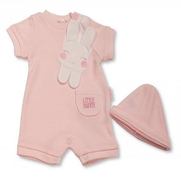 Little Bunny Romper with Hat Mary Shortle