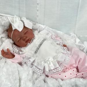 Painted Hair Asleep Sofia Reborn Baby Doll Mary Shortle
