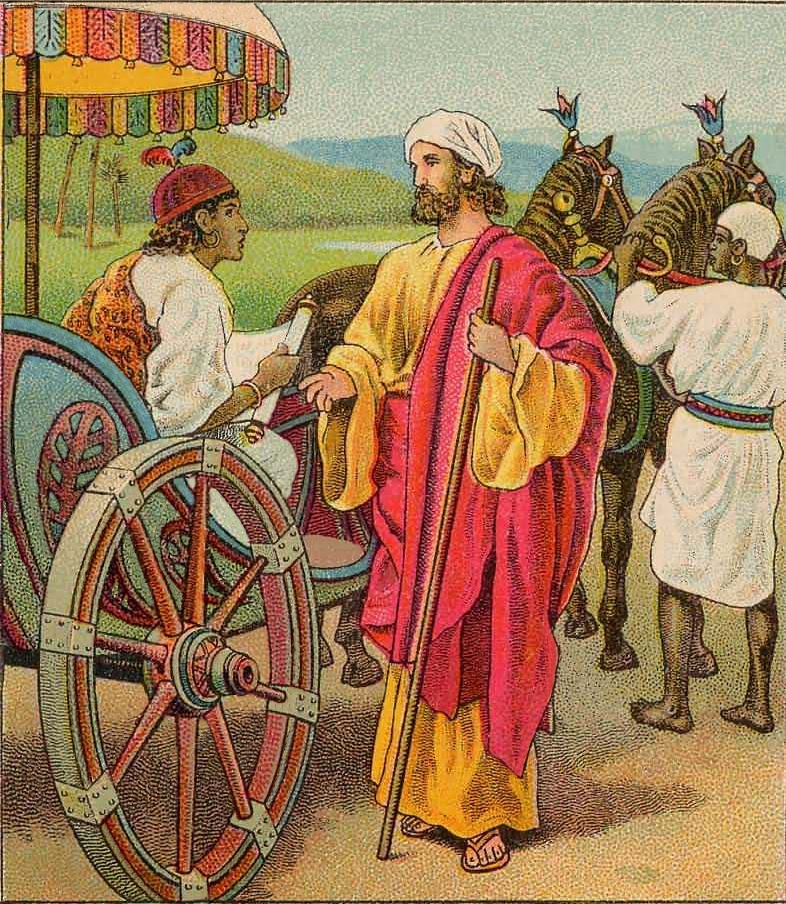 Image result for Ethiopian eunuch, chariot, philip, art, pictures
