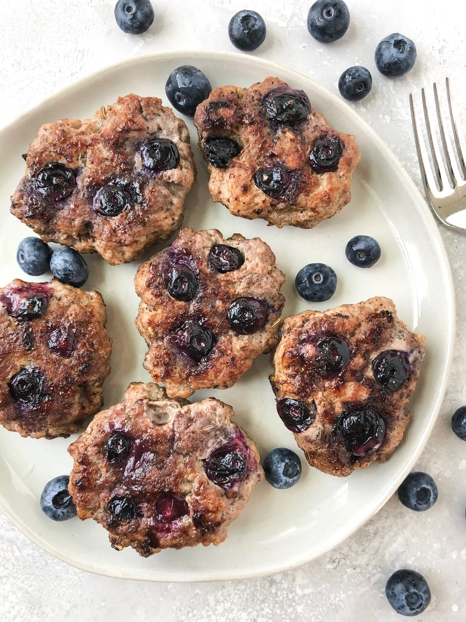 Blueberry Breakfast Sausage {Whole30}
