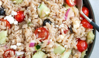 Grain Free Greek Orzo Salad