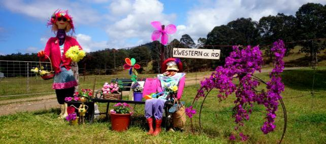 IM02 Scarecrow Name: Lily of the Valley Owner: Linda & Gary Rozynski 10 Western Creek Rd Imbil 4570 Registration Centre: Imbil Category: Traditional