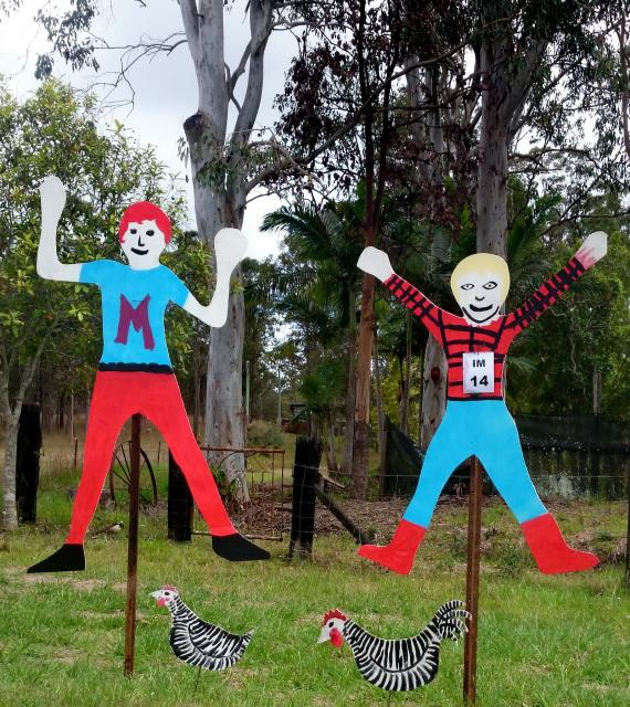 IM14 Scarecrow Name: Boys just want to have fun Owner: Max & Tom Johnson 4 Ray Myers Rd Imbil 4570 Registration Centre: Imbil Category: Childrens