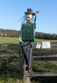KA07 Scarecrow Name: Steptoe Owner: Kelsie Hughes 510 Kandanga Creek Rd Kandanga 4570 Registration Centre: Kandanga Category: Artistic