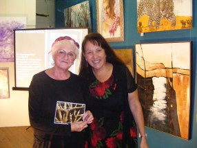 Jennie Hawkes Wright (left) collects her highly commended award from Mary valley Show Society representative Julie Walker.