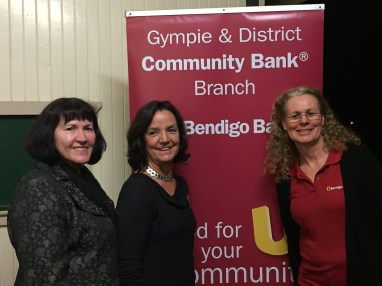 Bendigo Bank representatives with Heinke Butt (centre)