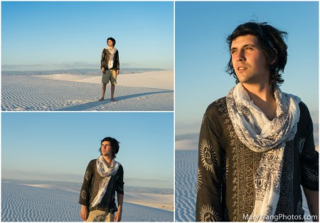 White Sands collage, male