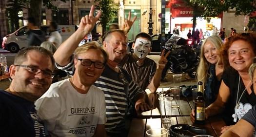 Abend vor dem Demo, Unter den Linden, Berlin