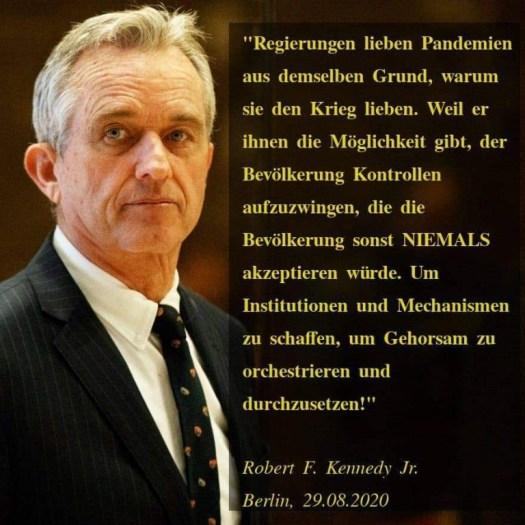 Berlin invites Europe, 29.08.2020 Robert F. Kennedy