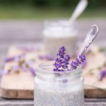 Lavender/Chia seeds overnight pudding