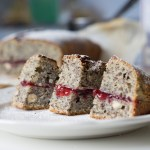 Poppy seeds/Nuts/Cranberry Jam Cake