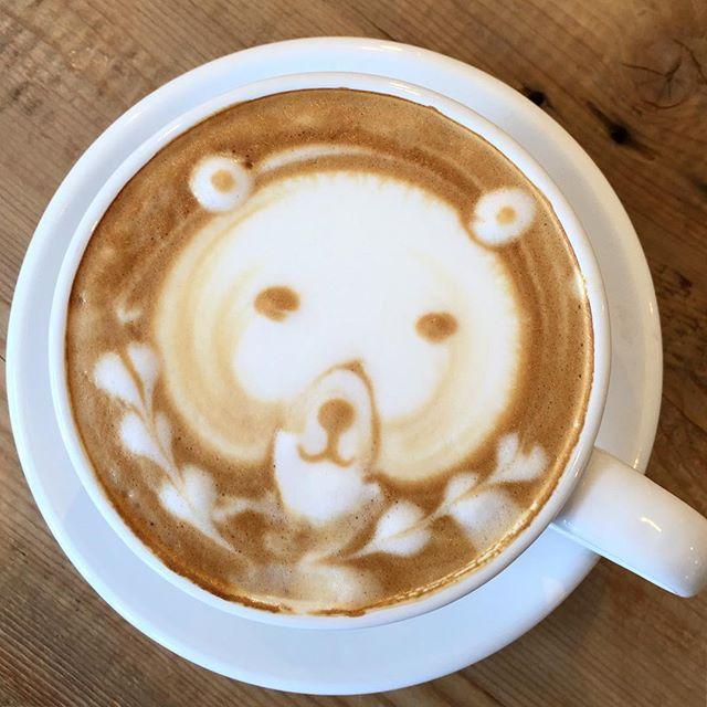 はちみつ入りのハニーラテクマのアゴが細くて、ちょっと怖いwww#masasfactory