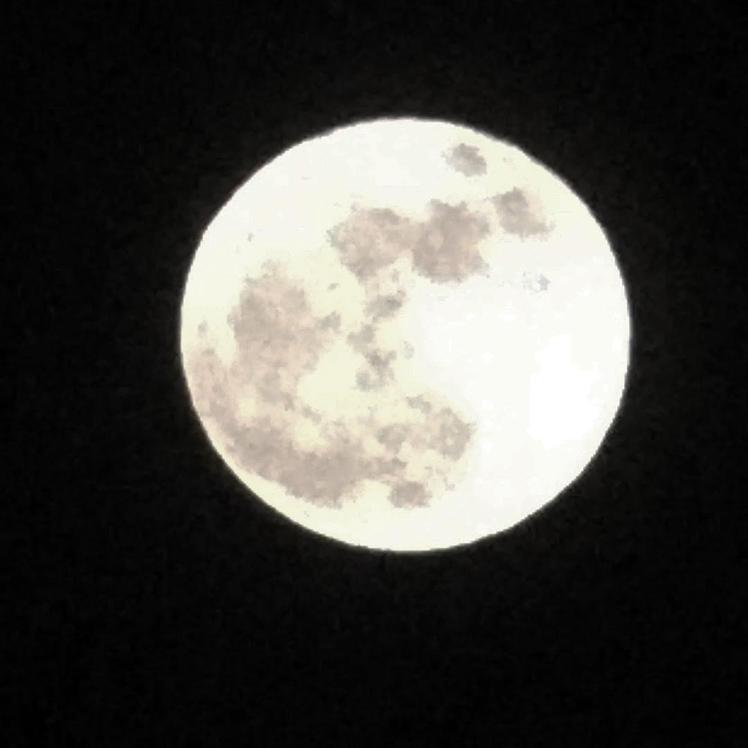 月が昇ってきました。