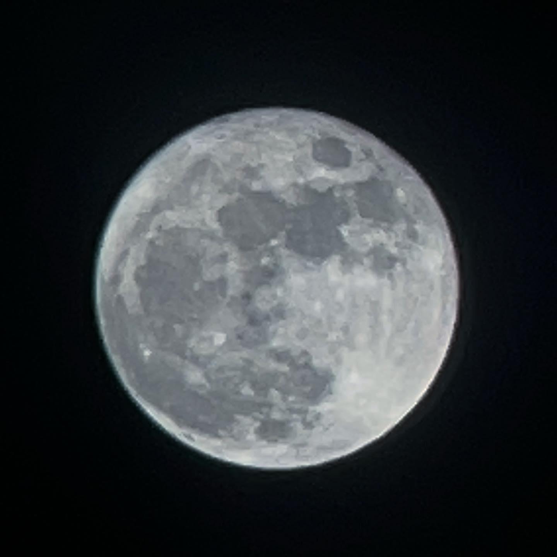 今日のSNSは月だらけ。