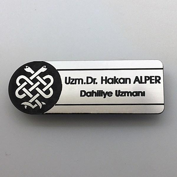 doktor yaka isimliği özel logo baskılı ve isim baskılı