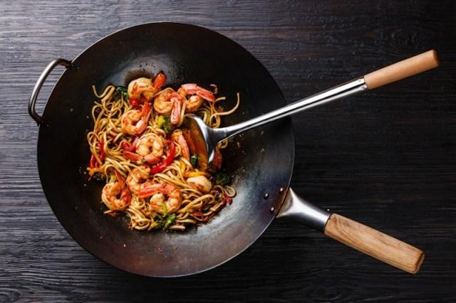 Sutil stainless untuk makanan khas Asia.