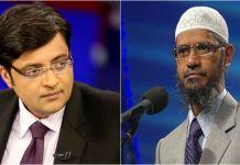 arnab goswami zakir naik fight
