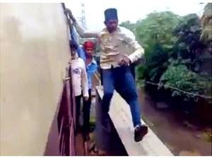 stunt on train