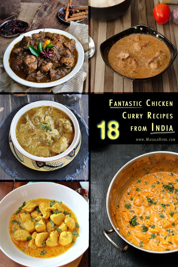18 fantastic Chicken Curry Recipes from India - Spicy ...