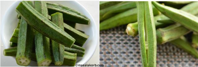 Okras for Stuffed Okra Recipe Step1
