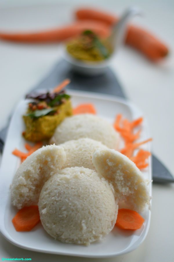 idli with carrot chutney V