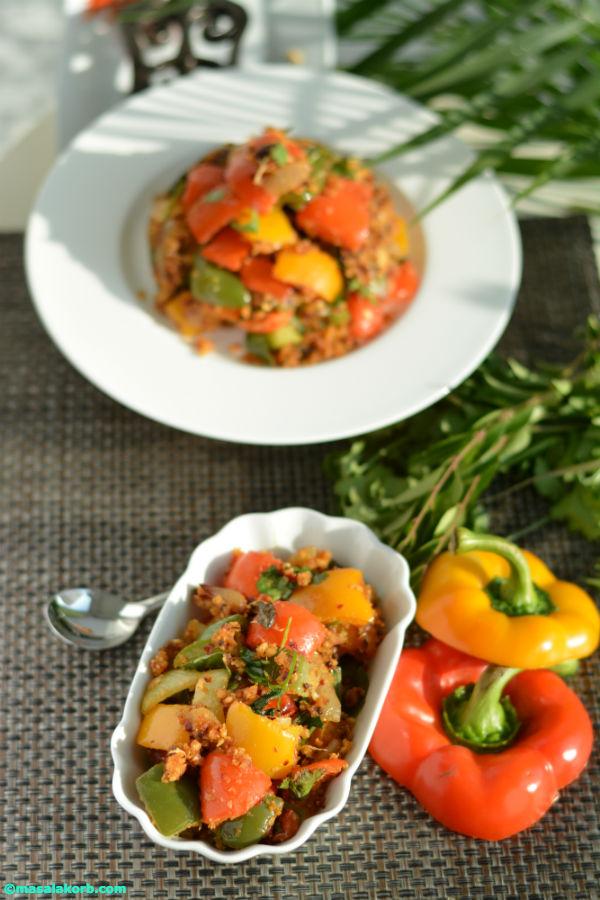 Tricolour capsicum masala stir fry V4