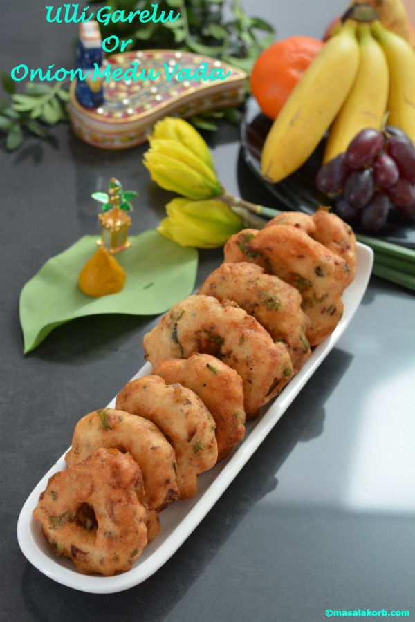 Ulli Garelu or Onion medu vada V1n