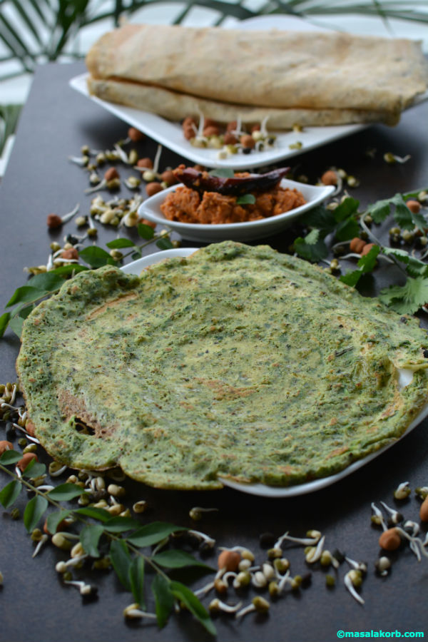 Mixed sprouts dosa using idly dosa batter V2