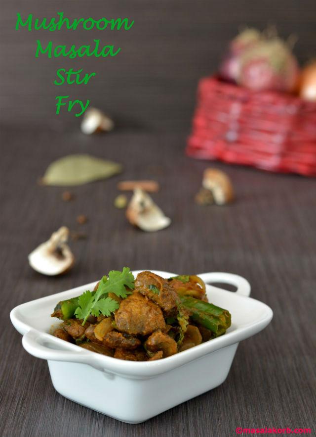 Mushroom masal stir fry V1