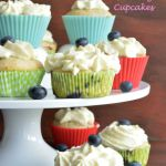 Blueberry Cream Cheese Frosting Cupcakes